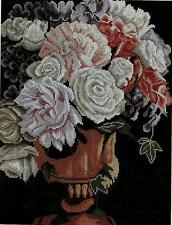 Lanarte Cross Stitch Kit - Classical Vase with Roses 35107A