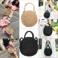 Bali Hand Woven Bag Women Round Rattan Straw Bags Satchel Handbag Crossbody Tote