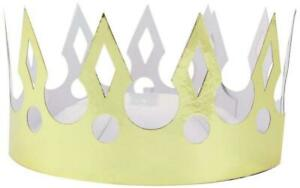 Amscan International Gold Crowns Party Hats Pack of 8
