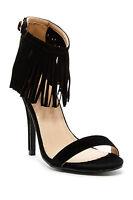 Chase & Chloe Edward Fringe Trim Heeled Sandal UK6.5 EU38.5 JS10 32