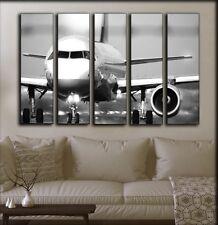 BIG SET 5 Panels Jet Airplane Wall Canvas Art Aircraft Aviation Gift For Pilot