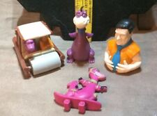 Vintage Flintstones Lot: Fred, Dino, and Flintmobile Candy Containers