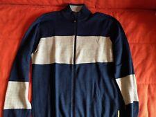 ARMANI JEANS Cardigan-Maglione UOMO Con ZIP , tg XL colore blu-grigio