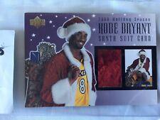 **RELIC** Kobe Bryant 2000 Upperdeck Holiday Season Santa Suit Card, LE