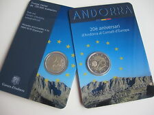 Andorra 2014 2 Euro ST BU Commemorative Coin Coin - 20 years in the Council of Europe - in blister