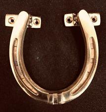 Solid Brass HORSESHOE Architectural Door Knocker & Strike Plate