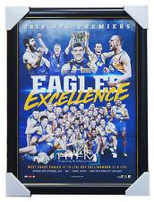 Eagles Excellence West Coast Eagles 2018 Premiers Official AFL L/E Print Framed