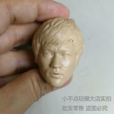 1/6 scale blank Head Sculpt Bruce Lee normall face The Big Boss unpainted