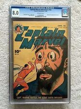 Captain Marvel Adventures #52 CGC 8.0 Fawcett Pub. Jan-Feb 1946 Off-White Pages