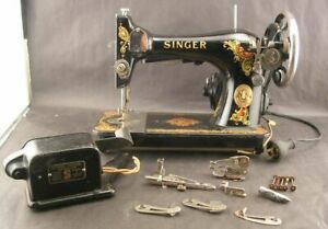 Singer Model 128 Sewing Machine With Accessories Parts/Restoration Clean