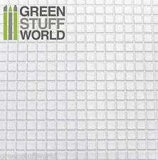 Plancha Plasticard Texturizado CUADRADOS GRANDES - A4 -- Plastico Poliestireno