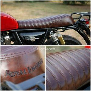 ROYAL ENFIELD SEAT INTERCEPTOR 650 INT GT 650 DARK BROWN SOFTER LUXURY GRAED