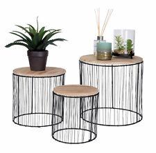 Pflanzenständer 3er Set - Deko Blumenhocker Blumenständer Pflanzenhocker rund