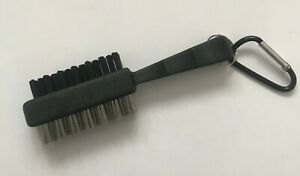 NEW JL Golf black optimiser club brush Groove cleaner dual iron woods with clip