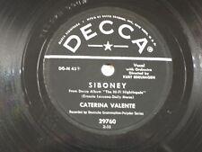 US 78 rpm Caterina Valente: Temptation / Siboney, Decca 29760