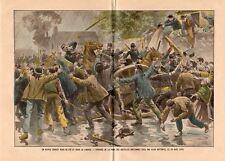 PRISE BASTILLE BRETONNE BRETAGNE GENDARME IMAGE 1902 PRINT