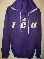 TCU Texas Christian Horned Frogs Purple Whit Hoodie Jacket Mens Size XXL 2XL NWT