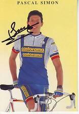 carte cycliste PASCAL SIMON équipe CASTORAMA 1991 signée