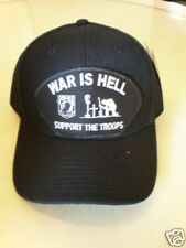 WAR IS HELL SUPPORT THE TROOPS  MILITARY CAP