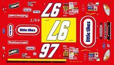 #97 Kurt Busch Little Tikes 2002 1/64th Ho Scale Slot Car Waterslide Decals