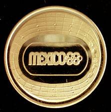 MEXIQUE Jeux Olympiques JO 1968 MEDAILLE OFFICIELLE EN OR 900/1000