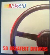 NASCAR 50 GREATEST DRIVER BILL CENTER BOB MOORE BIOGRAPHY CAR RACING BOOK