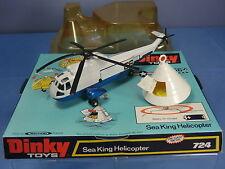 "DINKY TOYS modello No. 724 SEA KING Elicottero con ""APOLLO"" SPAZIO CAPSULA VN MIB"