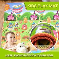 20mm Thick XXL Baby Kids Play Mat Floor Rug 3mx1.8m 2 Sides Alphabet Animal EF