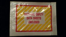 "6 1/8"" x 4 1/2"" Material Safety Data Sheet Enclosed 50 Envelopes self stick Msds"