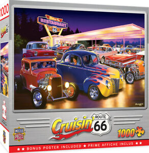 Masterpieces Puzzle Cruisin Friday Night Hot Rods Puzzle 1,000 pieces