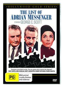 BRAND NEW The List Of Adrian Messenger (DVD, 1963) *PREORDER R4 Movie