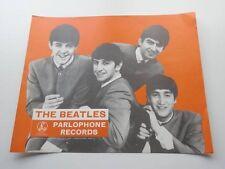 THE BEATLES ORIGINAL 1963 PARLOPHONE PROMOTIONAL SHOP POSTER EXCELLENT