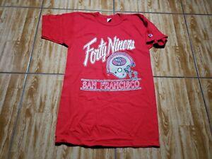 Vintage Champion San Francisco 49ers Shirt Adult Medium Red Mens Football NFL