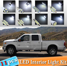 11-pc White LED Interior Light Bulbs Package Kit Fit 2005-2016 Ford F-250 F-350