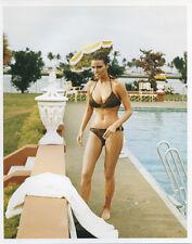 Raquel Welch vintage 8x10 pin-up photo in brown bikini by pool Biggest Bundle