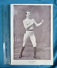 Original 1894 Antique Print Portrait Gallery Of Pugilists Jack Welch Boxer