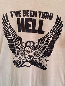Vintage Printed Been Thru Hell Tshirt