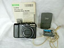 Canon Power Shot G9 12.1 MP Digital Camera, Battery, Charger, 32G Card, Manual