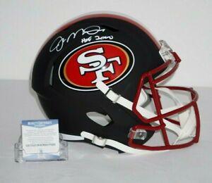 Joe Montana Signed San Francisco 49ers Matte Black Speed Helmet Beckett P75293