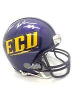 Chris Johnson East Carolina Pirates Signed Mini Helmet COA TITANS HELMET COA