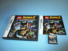 Lego Batman 2 DC Super Heroes Nintendo DS Lite DSi XL 3DS 2DS w/Case & Manual