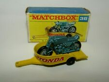 Matchbox Regular Wheels No 38 Honda Motorcycle with Trailer F Box NMIB