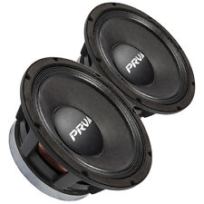 "Pair PRV Audio 10MR1000 10"" High Power PA Midbass Speaker 8 ohms 99dB 2.5""Coil"