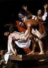 Caravaggio: Entombment. Art Print / poster.