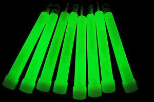 DirectGlow 25 Count Green Jumbo 6 Inch Glow Sticks 12+ Hour Glow