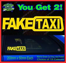 Fake Taxi Stickers 200mm (x2) JDM Drift Skid Turbo Hoon Race Car Funny Decal