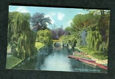 c1910 View Trinity Bridge & Boats, Cambridge