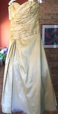 ALFRED ANGELO $599 16 A-LINE GOLDEN ANNIVERSARY WEDDING PAGEANT GOWN PROM FORMAL