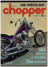 STREET CHOPPER SEPTEMBER 1970 SEE CONTENT AEE 70's STYLE CUSTOM CHOPPERS HOW TO