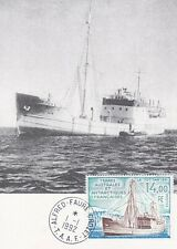 Card Maximum FDC Taaf Land Southern Pa 117 Boat Ship Marion Dufresne